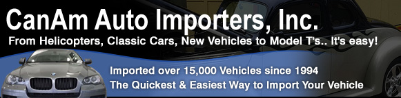 Registered Importer, Auto Importer, Vehicle Importer, Auto Import USA, Car Importers, Can Am Auto Importers